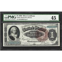 1886 $1 Martha Washington Silver Certificate Note Fr.219 PMG Choice Extremely Fi