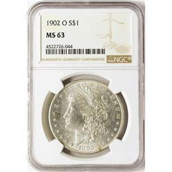 1902-O $1 Morgan Silver Dollar Coin NGC MS63