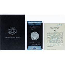 1884-CC $1 Morgan Silver Dollar Coin ANACS MS62 GSA w/ Box & COA