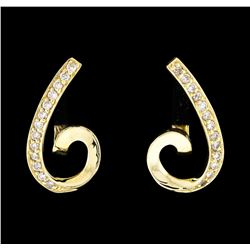 14KT Yellow Gold 0.33 ctw Diamond Earrings