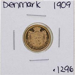 1909 Denmark Fredrick VIII 10 Kroner Gold Coin