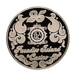 Paradise Island Casino 20.5 gram .925 Sterling Silver Gaming Token