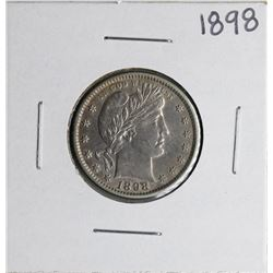 1898 Barber Quarter Coin