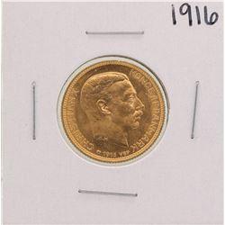 1916 Denmark 20 Kroner Gold Coin