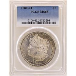 1880-CC $1 Morgan Silver Dollar Coin PCGS MS65