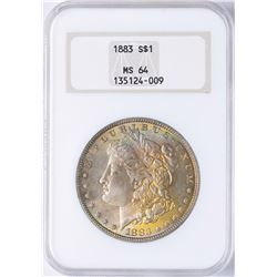 1883 $1 Morgan Silver Dollar Coin NGC MS64 AMAZING TONING