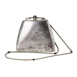 Rodo Italy Silver Metal Evening Bag