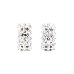 14KT White Gold 4.65 ctw Diamond Earrings