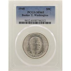 1948 Booker T. Washington Memorial Half Dollar Coin NGC MS65