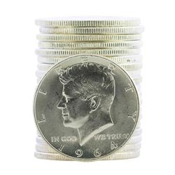 Roll of (20) 1964 Brilliant Uncirculated Kennedy Half Dollar Coins