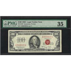 1966 $100 Legal Tender Note Fr.1550 PMG Choice Very Fine 35