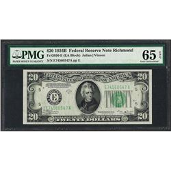 1934B $20 Federal Reserve Note Boston Fr.2056-E PMG Gem Uncirculated 65EPQ