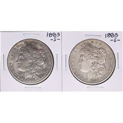 Lot of (2) 1883-S $1 Morgan Silver Dollar Coins
