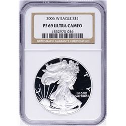 2006-W $1 American Silver Eagle Proof Coin NGC PF69 Ultra Cameo