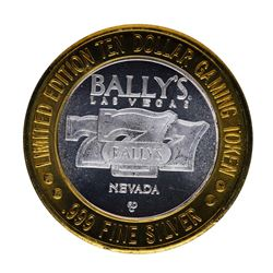 .999 Silver Bally's Las Vegas $10 Casino Limited Edition Gaming Token