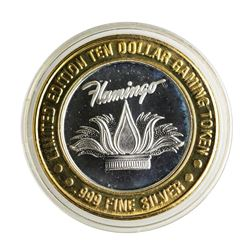 .999 Silver Flamingo Laughlin Nevada $10 Casino Limited Edition Gaming Token