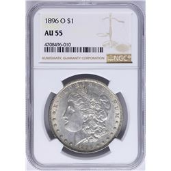 1896-O $1 Morgan Silver Dollar Coin NGC AU55