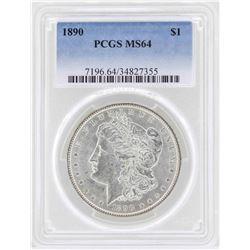 1890 $1 Morgan Silver Dollar Coin PCGS MS64
