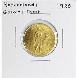 1928 Netherlands Ducat Gold Coin