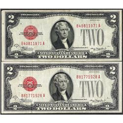 Lot of (2) 1928C $2 Legal Tender Notes