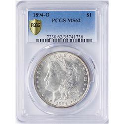 1894-O $1 Morgan Silver Dollar Coin PCGS MS62