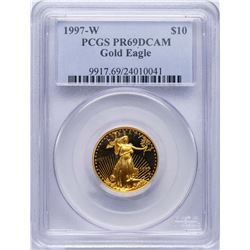 1997-W $10 American Gold Eagle Proof Coin PCGS PR69DCAM