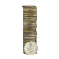 Roll of (50) 1953-S Brilliant Uncirculated Roosevelt Dimes