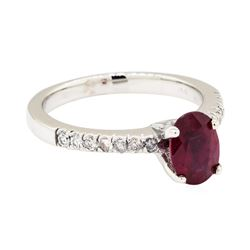 14KT White Gold 1.49 ctw Ruby and Diamond Ring