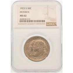 1923-S Half Dollar Monroe Doctrine Centennial Half Dollar Coin NGC MS62