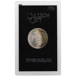 1883-CC $1 Morgan Silver Dollar Coin GSA Amazing Rainbow Toning
