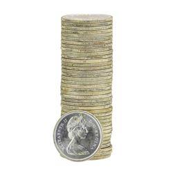 Roll of (40) 1967 Brilliant Uncirculated Canadian Quarters