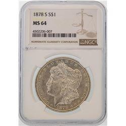 1878-S $1 Morgan Silver Dollar Coin NGC MS64