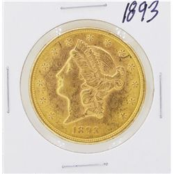 1893 $20 Liberty Head Double Eagle Gold Coin