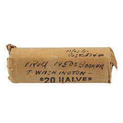Original Roll of (40) 1950-S Booker T Washington Half Dollar Commemorative Coins