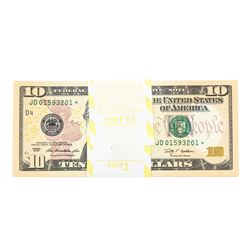 Pack of (100) Consecutive 2009 $10 Federal Reserve STAR Notes