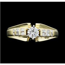 14KT Yellow Gold 0.82 ctw. Diamond Ring