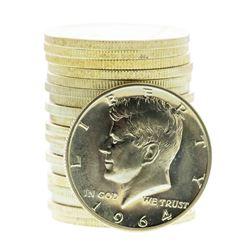Roll of (20) Proof 1964 Franklin Half Dollar Coins