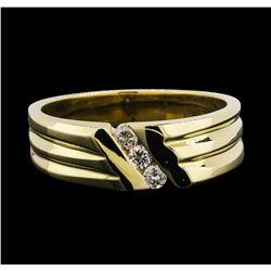 14KT Yellow Gold 0.15 ctw Diamond Ring