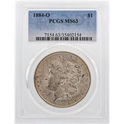1884-O $1 Morgan Silver Dollar Coin PCGS MS63 Nice Color