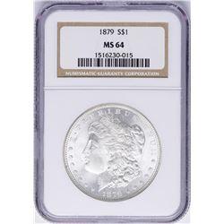 1879 $1 Morgan Silver Dollar Coin NGC MS64