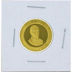 1991 Spain 20000 Pesetas Barcelona Olympics Gold Coin