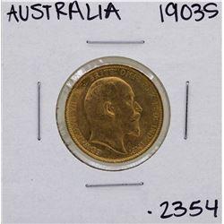 1903-S Australia King George V Sovereign Gold Coin