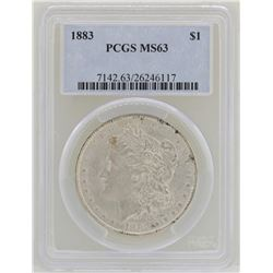 1883 $1 Morgan Silver Dollar Coin PCGS MS63