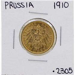 1910-A Germany-Prussia 20 Marks Gold Coin