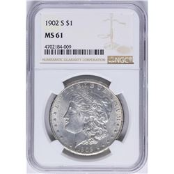 1902-S $1 Morgan Silver Dollar Coin NGC MS61