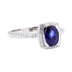 18KT White Gold 1.49 ctw Sapphire and Diamond Ring