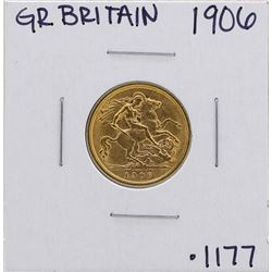 1906 Great Britain Edward VII 1/2 Sovereign Gold Coin