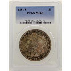 1881-S $1 Morgan Silver Dollar Coin PCGS MS66 AMAZING TONING