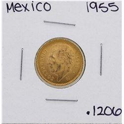 1955 Mexico 5 Pesos Gold Coin