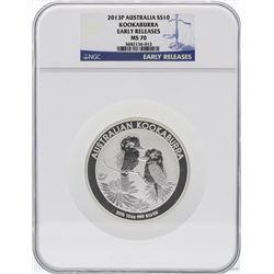 2013P Australia $10 Kookaburra 10 Ounce Silver Coin NGC MS70 Early Releases